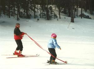 88 Ski with dad
