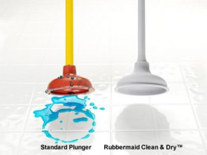 Rubbermaid Clean and Dry plunger