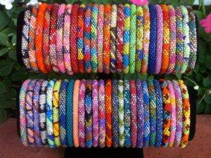 Bracelets displayed