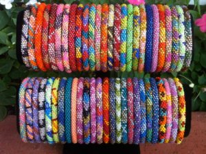 Bracelets displayed