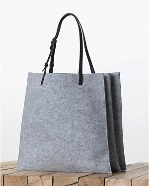 Celine-Triple-Grey-Felt-Shopping-Tote-bag-Fall-2013