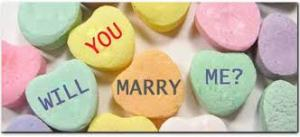 Marriage candy hearts