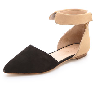 d'Orsay two piece ankle strap flat