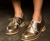 Karen Walker metallic oxfords