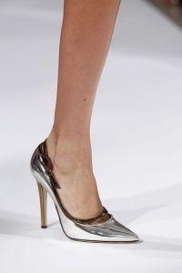 Oscar metallic heel
