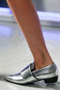 Rodarte metallic loafer
