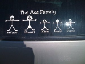 Ass fam sticker