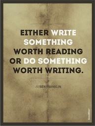 Write or Do Something
