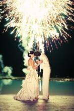 bride fireworks