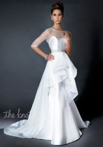 dress with detachable overskirt
