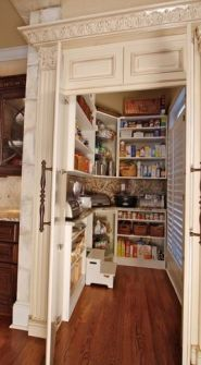 kitchen appliance counter in pantry