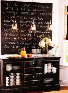 kitchen chalk board
