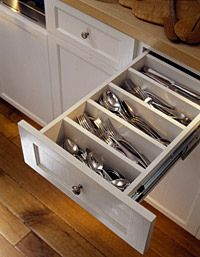 kitchen flatware drawer