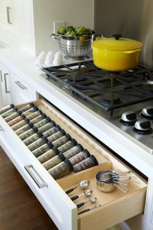 kitchen spice drawer