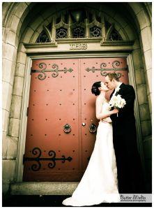 photo at church doors