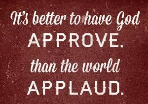 God approve