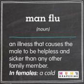 Flu in a man
