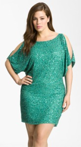 Aidan-Mattox-Sequin-Cold-Shoulder-Dress