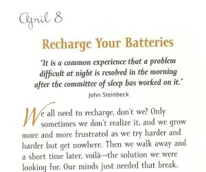 Recharge your batteries page