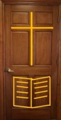 6 panel door with cross
