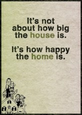 Not about how big a house is