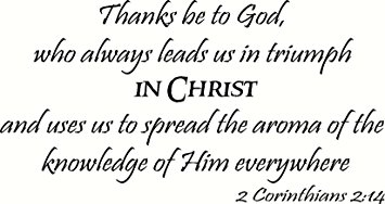 Image result for i spread the aroma of christ