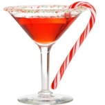 Candy cane cocktail