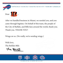 Bills promise wings